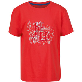 Regatta Bosley III T-Shirt Kinder fiery coral